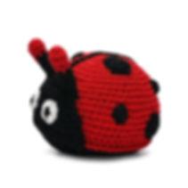 Knit Ladybug Dog Toy