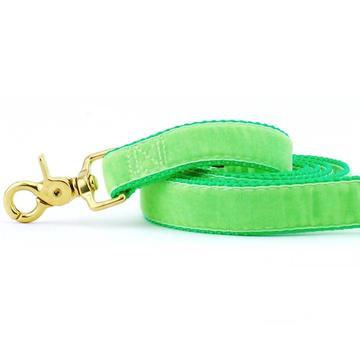 Velvet Dog Leash Neon Green