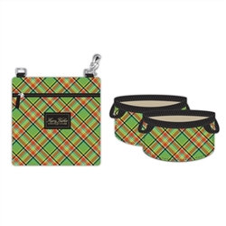Fold-Up Dog Bowls and Food Pouch Tartan