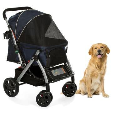 Pet Rover Premium Dog Stroller Navy