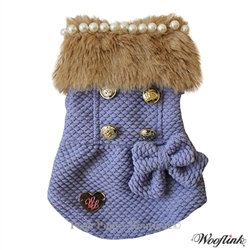 Posh Girl Dog Coat Purple