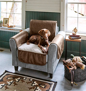 Faux Leather and Fleece Dog Chair Protector