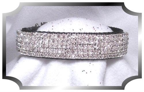 Diamond Sparkle Velvet Dog Collar