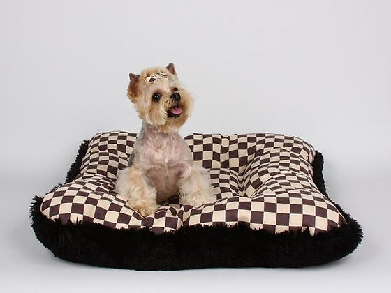 Windsor Check Square Shag Dog Bed