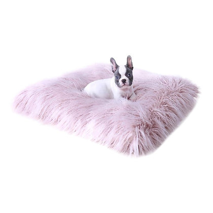 Himalayan Yak Mat Dog Bed Blush