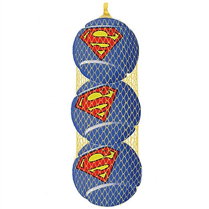 Superman Squeaky Dog Tennis Ball Toy Set