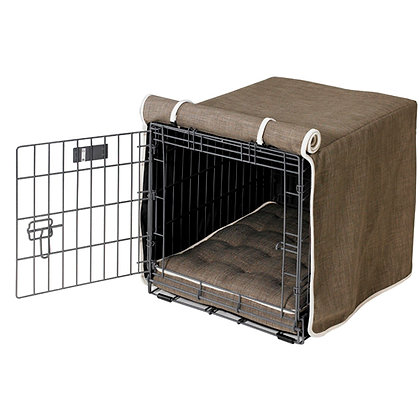 Driftwood Microlinen Dog Crate Cover
