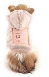 Doodle Fur Reversible Jacket Hoodie Pink