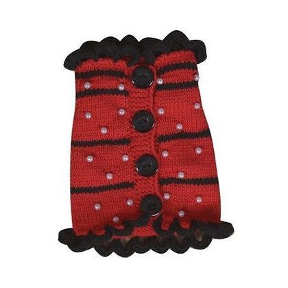 Dacia Handknit Dog Sweater Red