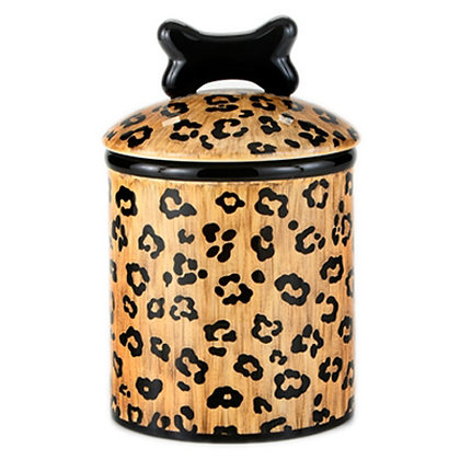 Wild Leopard Dog Treat Jar