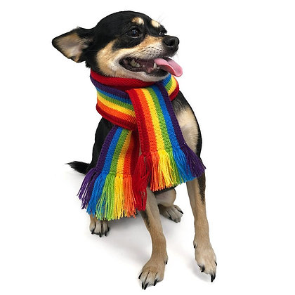 Rainbow Dog Scarf