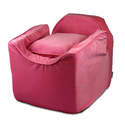 Luxury Lookout Dog Car Seat Pink