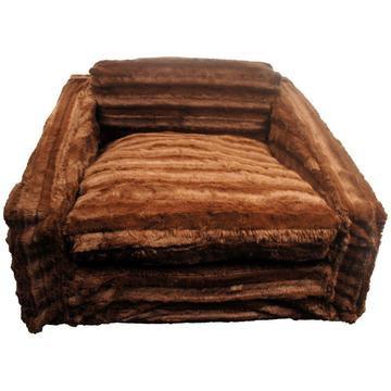 Chocolate Mink Dog Sofa Bed