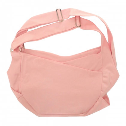 Dual Strap Sling Dog Carrier Pink & Silver