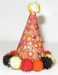 Circles Dog Party Hat