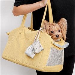 Louisdog Linen Shoulder Bag Mustard