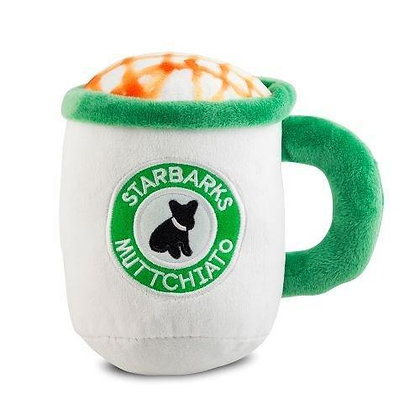 Starbarks Muttchiato Coffee Cup Dog Toy