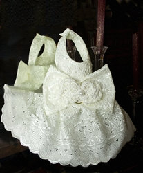 Couture Beaded Ivory Eyelet Lace Dog Harness Dress