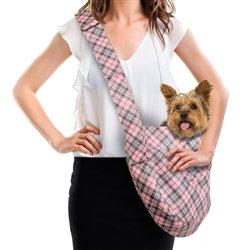 Susan Lanci Scotty Puppy Pink Plaid Sling Cuddler
