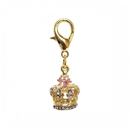 Royal Queen Crown Dog Collar Charm