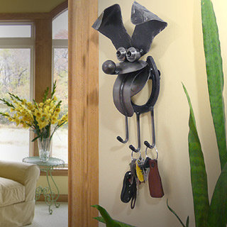 Happy Puppy Key Holder and Leash Hook