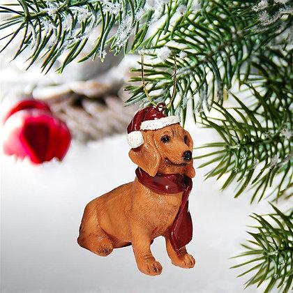 Dachshund Holiday Dog Ornament