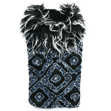 Denim And Swarovski Crystal Dog Coat