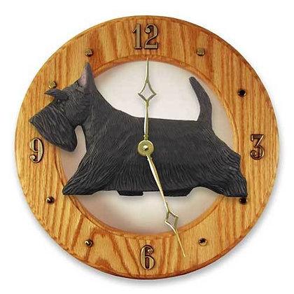 Light Oak Dog Breed Wall Clock