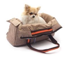 Cozy Shoulder Bag Dog Carrier Brown