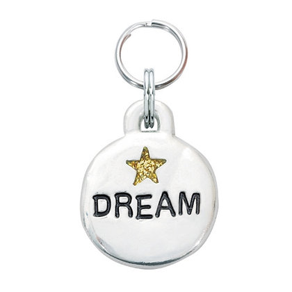 Dream With Star Dog Collar Charm