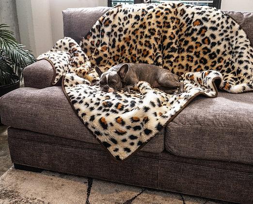 PupProtector Waterproof Throw Blanket Faux Cheetah