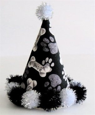 Bones and Paws Dog Party Hat
