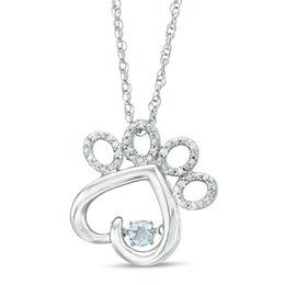 Aquamarine Sterling Pendant