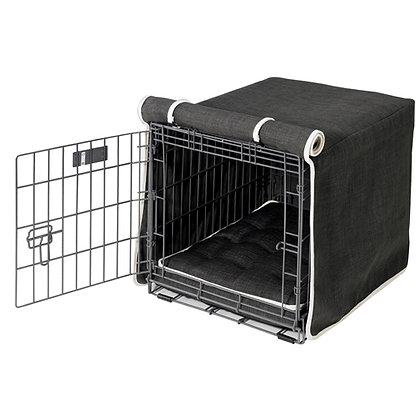 Storm Microlinen Dog Crate Cover