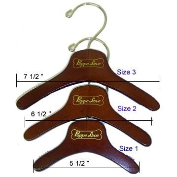 Wooden Dog Clothes Hangers