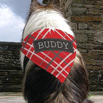 Personalized Plaid Pet Bandana