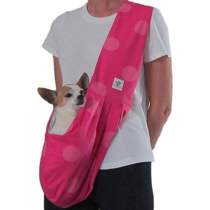 Cotton Hot Pink Polka Dot Dog Sling Carrier