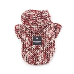 Knit Hoodie Burgundy