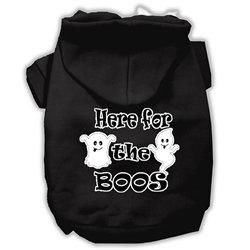 Here for the Boos Screenprint Dog hoodie