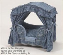 Blue Diamonds Canopy Pet Bed