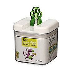 Flip-Tite Green Paw Square Food Storage Canister