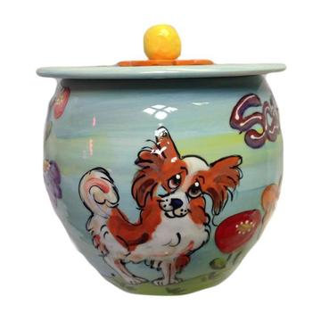 Papillon Garden Daze Dog Treat Jar