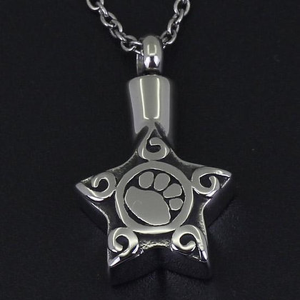 Paw Star Pet Memorial Necklace