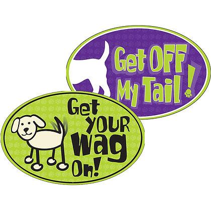 Dog Speak Oval Indoor/Outdoor Magnet