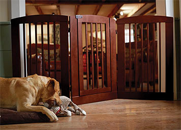 Three-Panel Dog Gate With Door