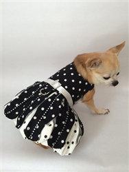 Polka Dot & Rhinestone Elegant Dog Dress
