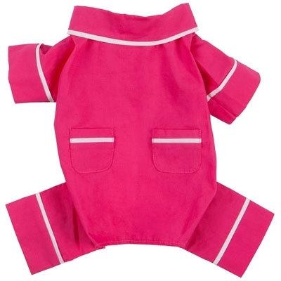 Pink Poplin Dog Pajamas
