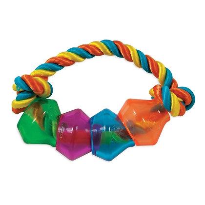 JW® Treat Pod Rope Ring Dog Toy