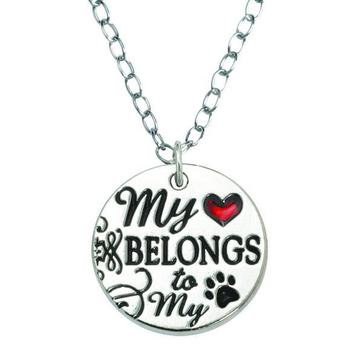 My Heart Belongs To My Dog Necklace