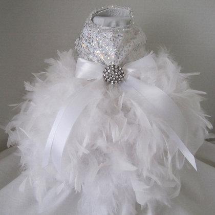 White Snow Flake Dog Dress